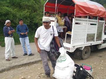 Juan Manuel traveling to  remote indigenous communities throughout Chiapas